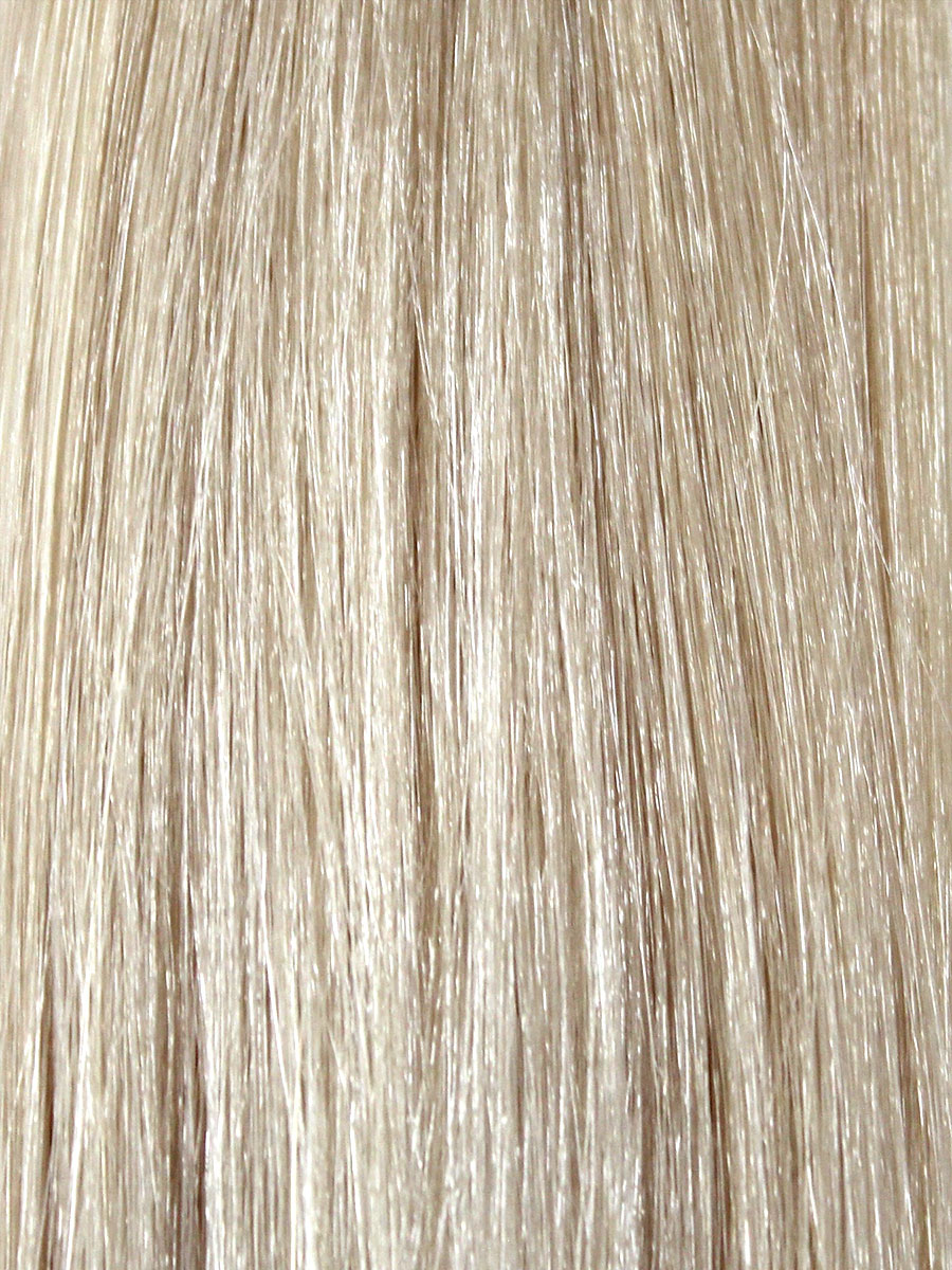 Image of Cinderella Hair Extensions Ice White. Pre-Bonded Hair Extensions & Application-I Stick Tip/I-Tip Hair Extensions