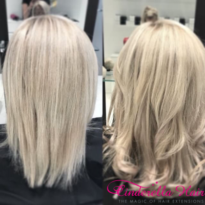 Image of Cinderella Hair Extensions Application-I Stick Tip/I-Tip Hair Extensions
