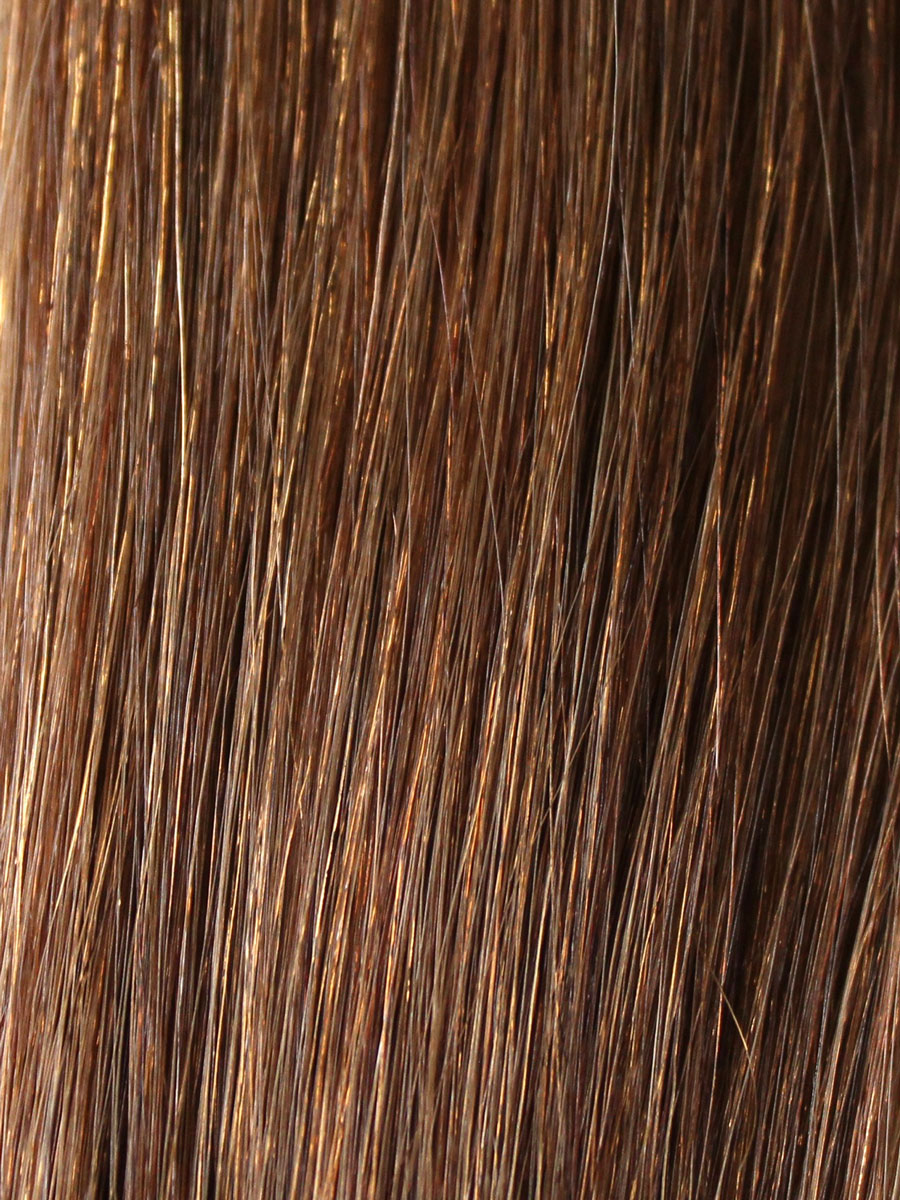 Image of Cinderella Hair Extensions Colour 6 Brown Brunette. Pre-Bonded Hair Extensions & Application-I Stick Tip/I-Tip Hair Extensions