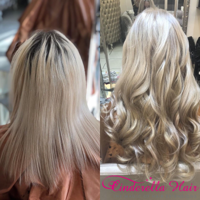 Cinderella Hair Extensions Before & After