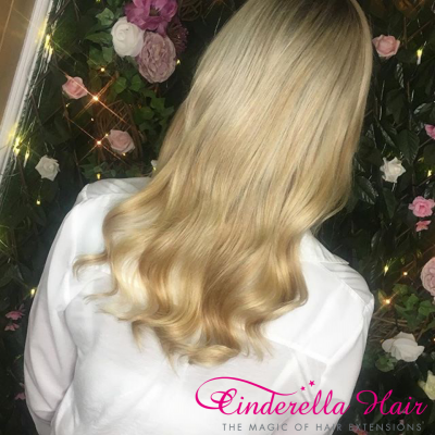 Cinderella Hair Pre-Bonded Hair Extensions Before & After
