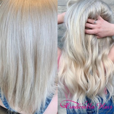 Image of Cinderella Hair Pre-Bonded Hair Extensions Before After