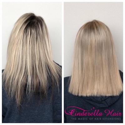 Image of Cinderella Hair Pre-Bonded Minimal Colour Ash Hair Extensions